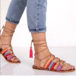 SCHUTZ Patricia lace up sandals